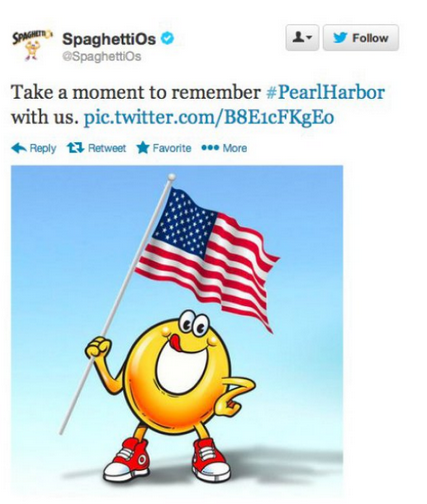 Campbell's Pearl Harbor Tweet