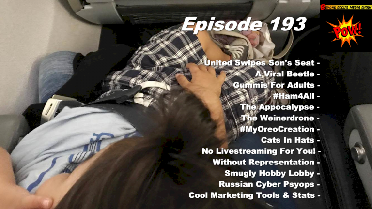 Beyond Social Media - United Airlines Toddler Seat - Episode 193