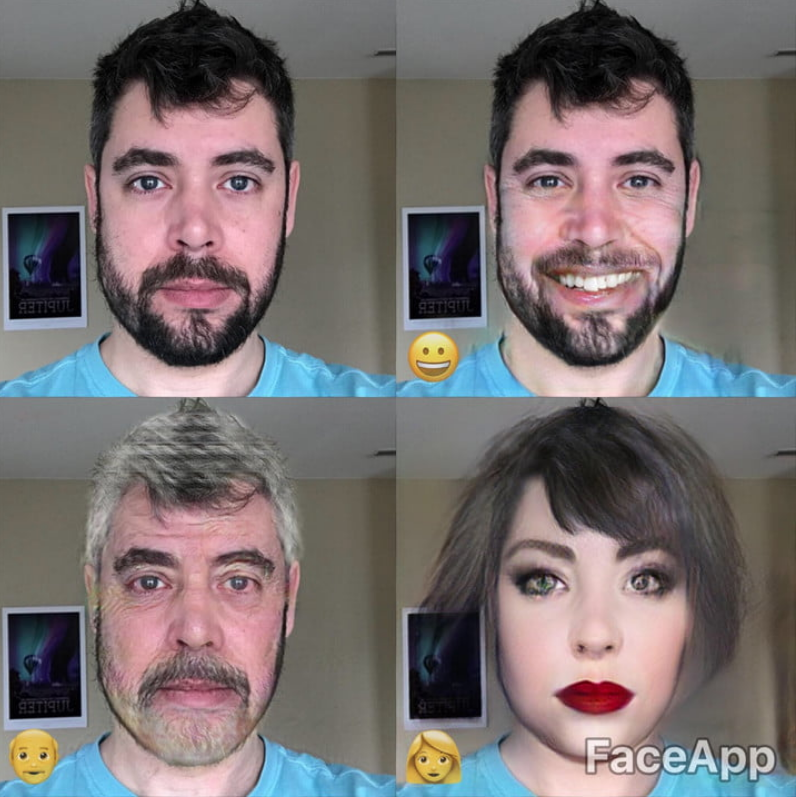Face App Filters Change Looks