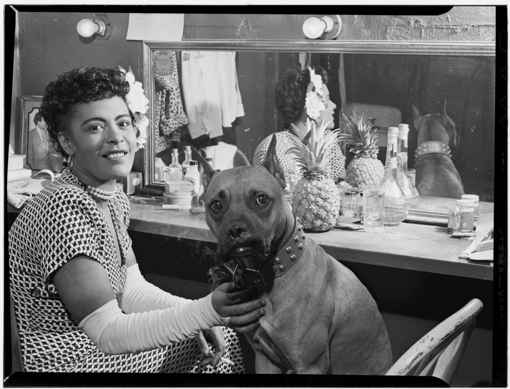 Billie Holliday and Dog