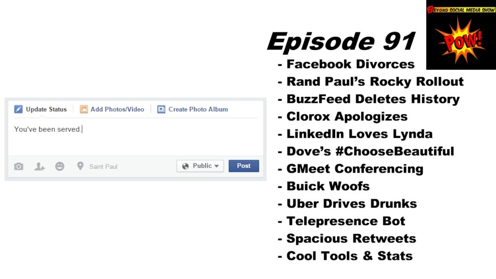 Beyond Social Media Show - Facebook Divorce - Episode 91