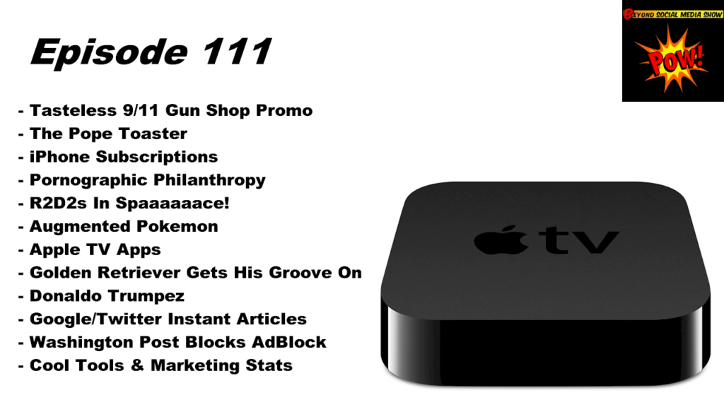 Beyond Social Media - Apple TV Apps - Episode 111
