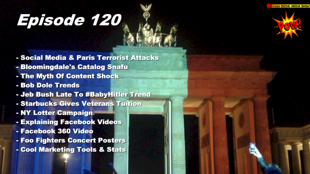 Beyond Social Media - Paris Terrorist Attacks - Episode 120