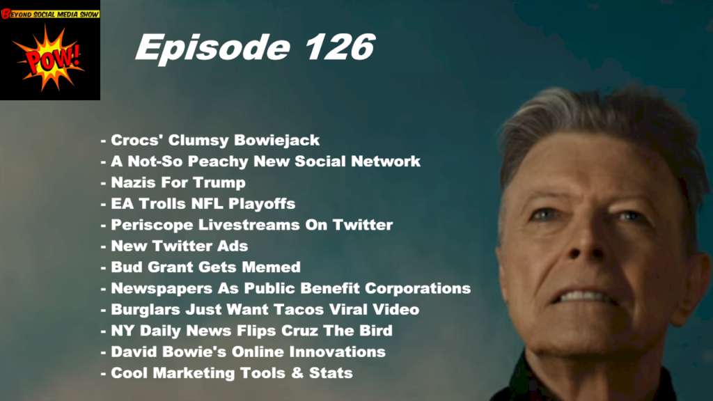 Beyond Social Media - David Bowie's Online Innovations - Episode 126