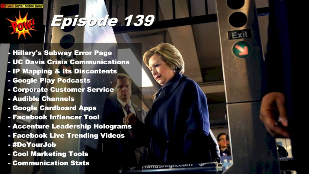 Beyond Social Media - Hillary Clinton 404 Error - Episode 139