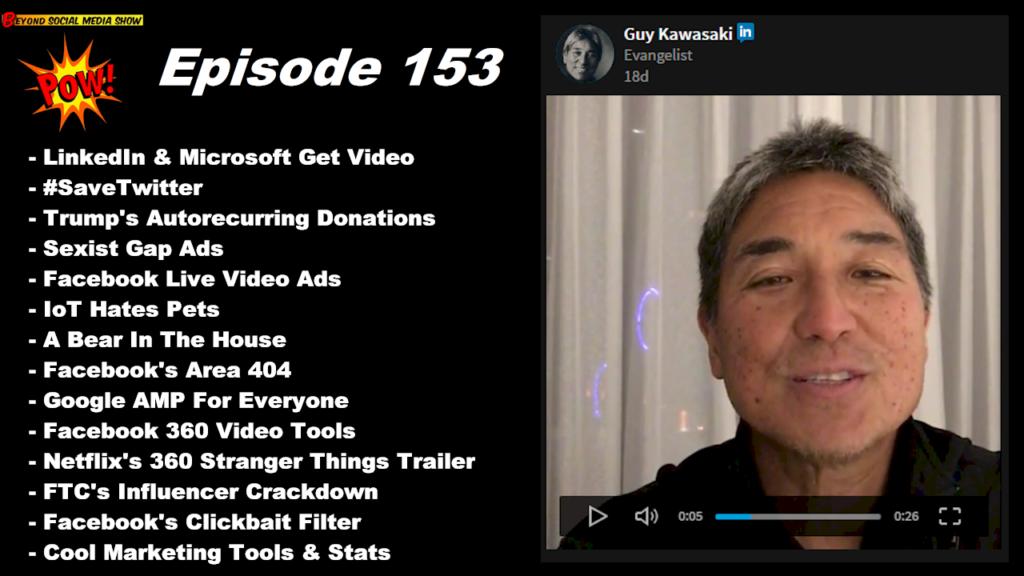 Beyond Social Media - LinkedIn QA and Microsoft Livestream Video - Episode 153