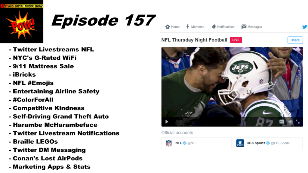 Beyond Social Media - Twitter Livestreams NFL - Episode 157