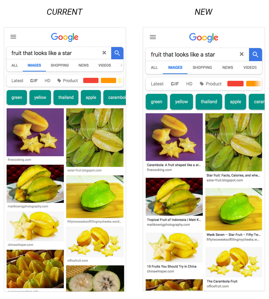 Google Images With Captions
