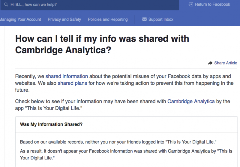 How to check if Facebook data was stolen