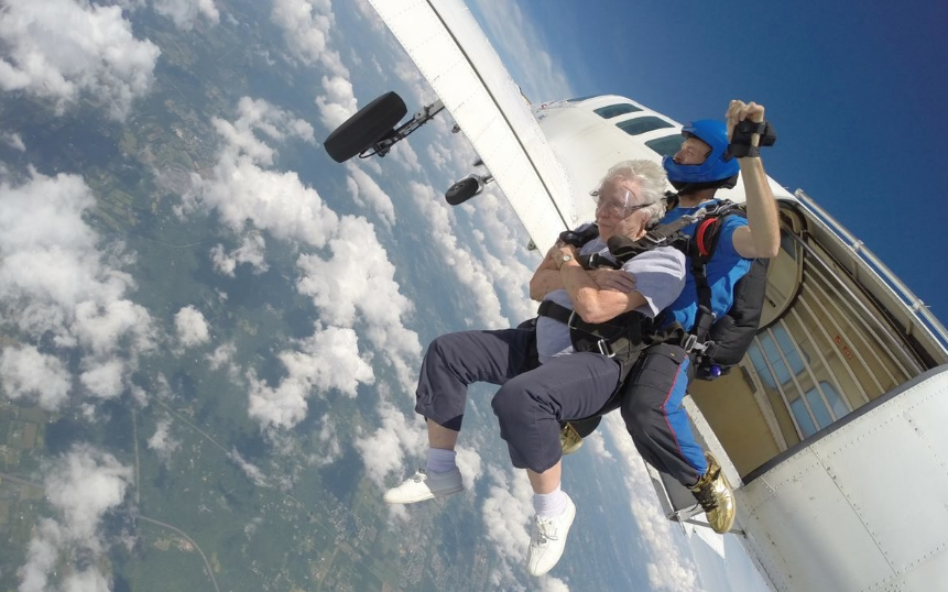 Seniors' Skydiving Bucket List Wish Granted
