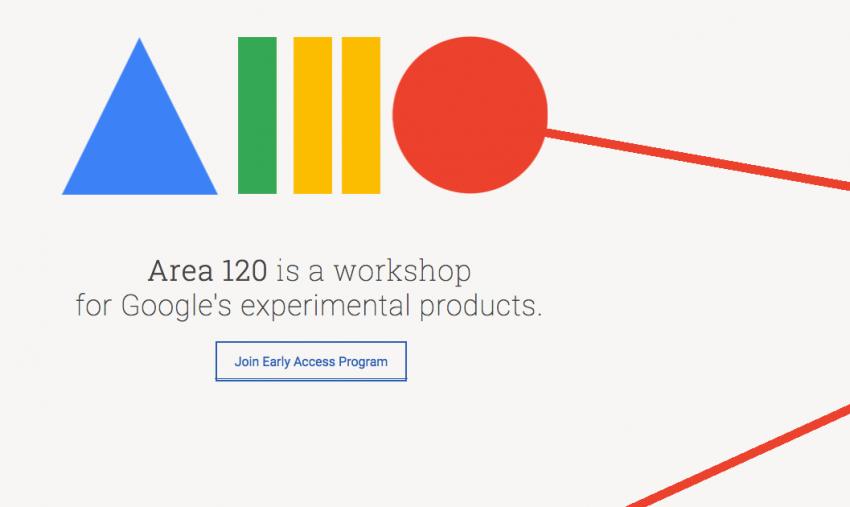 Google Area 120 experiments website