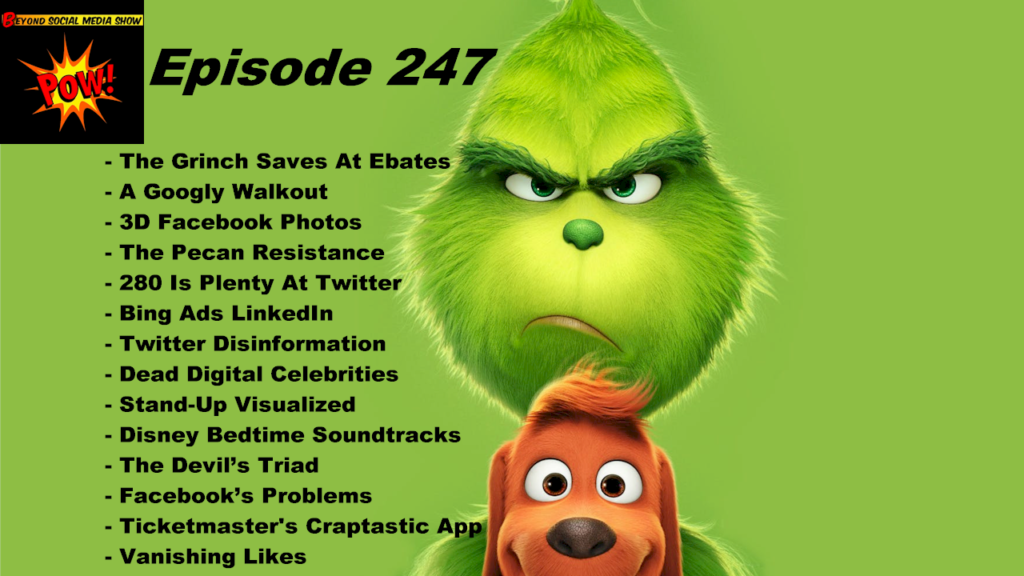 Beyond Social Media - Grinch Saves At Ebates - Episode 247