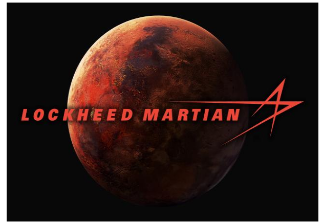 Lockheed-Martin changed its logo to Lockeed-Martian to celebrate Mars landing