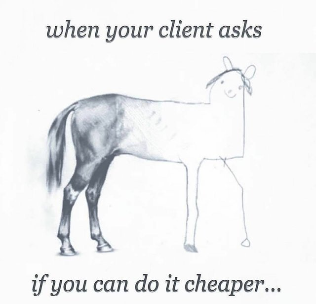 Illustration: Client Asks If You Can Do It Cheaper