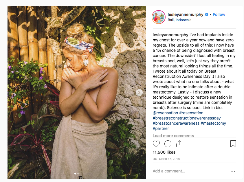 Post by LesleyAnneMurphy doesn't identify sponsorship.