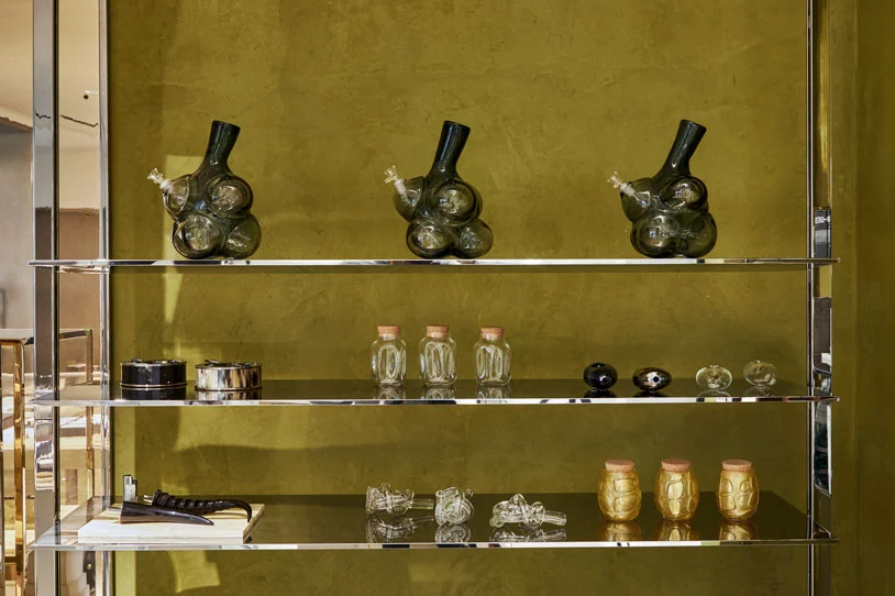 "Accessories at Barney's ""High End"" cannabis studio"