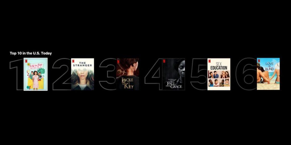 Screenshot: Netflix Top 10 Lists
