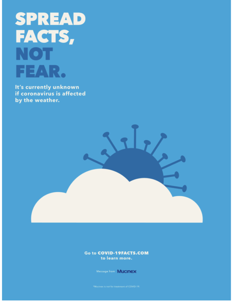 "Mucinex ""Spread Facts, Not Fear"" campaign"