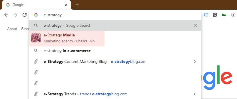 Screenshot: Chrome - Google My Business Branding