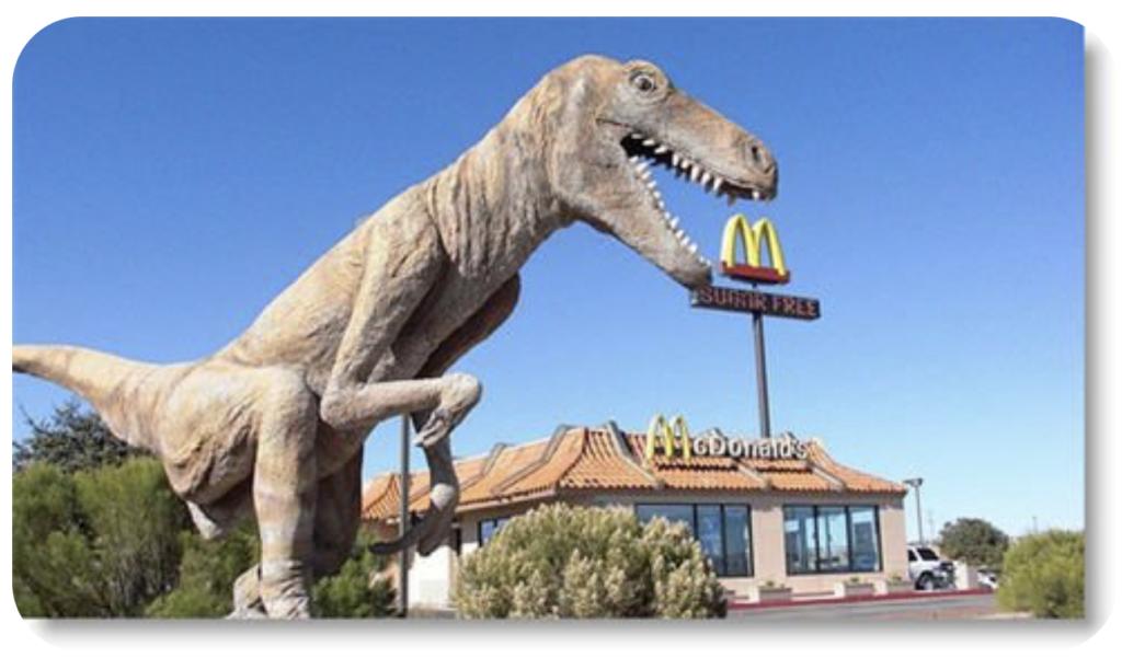 T-Rex Dinosaur at McDonalds in Arizona
