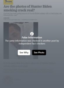 Screenshot: Fake Hunter Biden Snopes Facebook Post