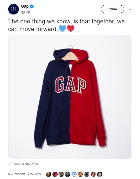 The Gap's Deleted Tweet