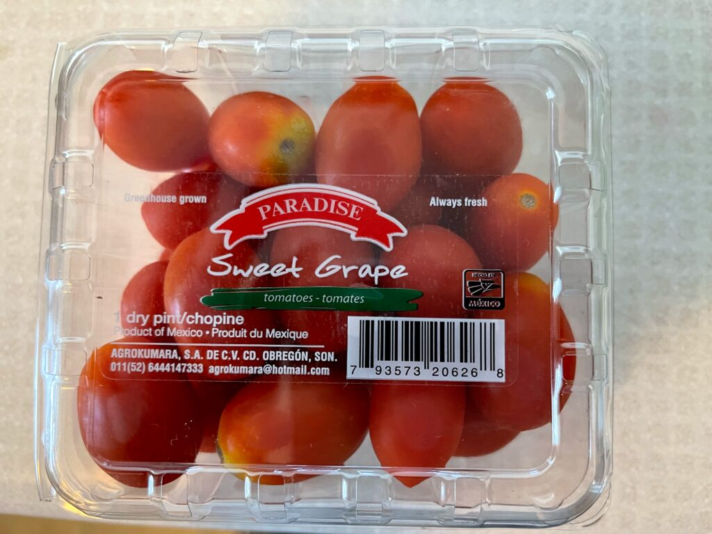 Photo: Paradise Grape Tomatoes Packaging